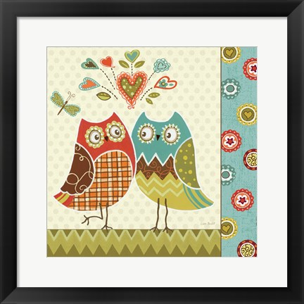 Framed Owl Wonderful II Print
