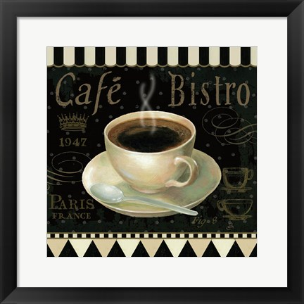 Framed Cafe Parisien IV Print
