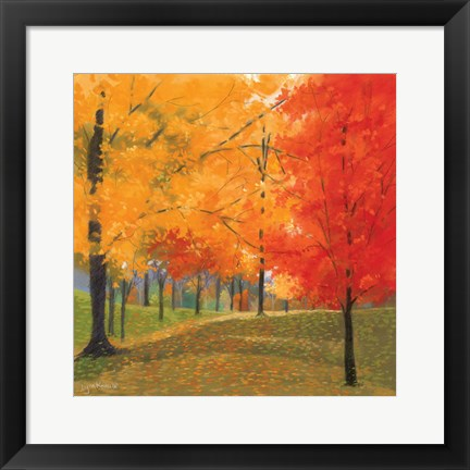 Framed Bright Autumn Day II Print