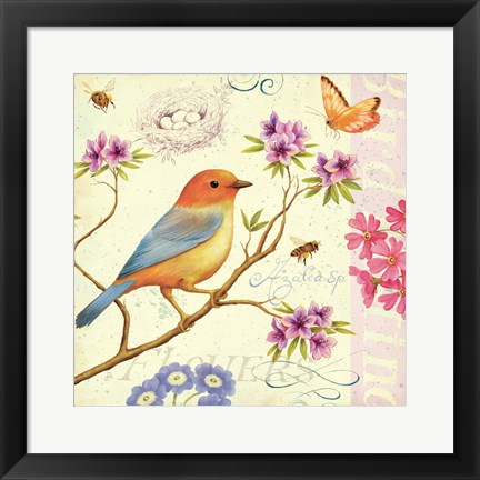 Framed Birds and Bees II Print