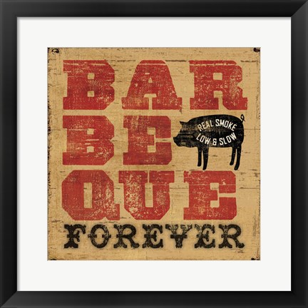 Framed Barbeque Forever Print
