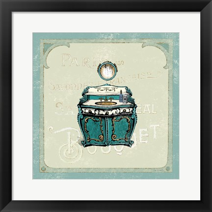 Framed Parisian Bath II Print