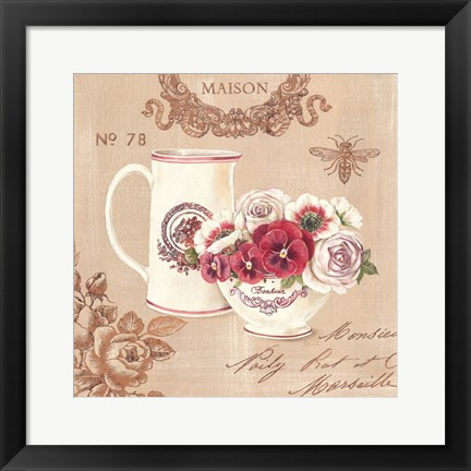 Framed Parisian Flowers III Print