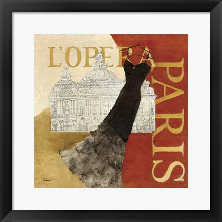 Framed Paris Dress - L' Opera Print