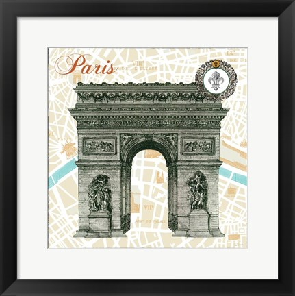 Framed Monuments des Paris Arc Print
