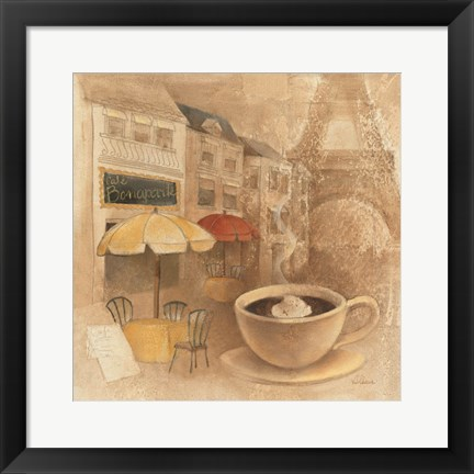 Framed Cafe de Paris II Print