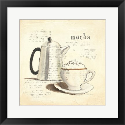 Framed Parisian Coffee I Print