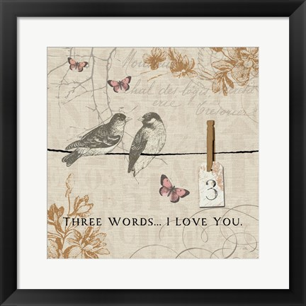 Framed Words that Count III Print