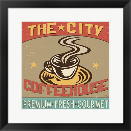 Framed Coffeehouse I Print