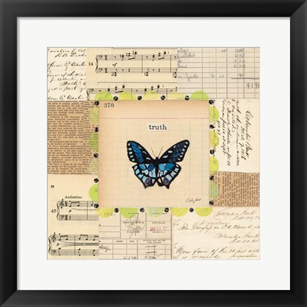 Framed Truth Butterfly Print