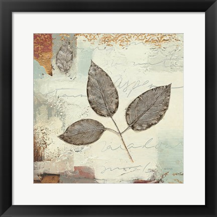 Framed Silver Leaves II Print