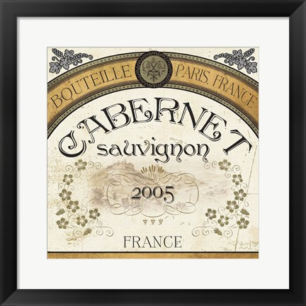 Framed Wine Labels I Print