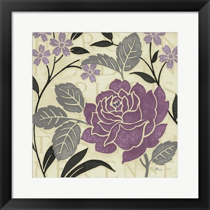 Framed Perfect Petals II Lavender Print