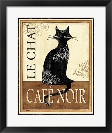 Framed Le Chat Print