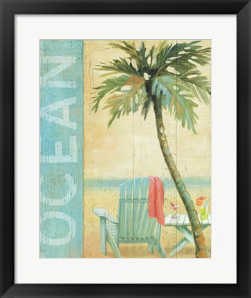 Framed Ocean Beach II Print