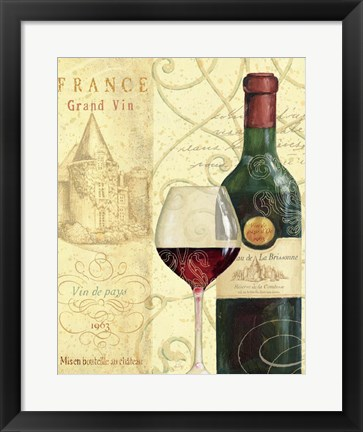 Framed Wine Passion I Print