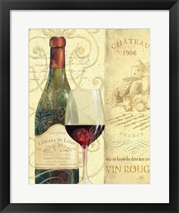 Framed Wine Passion II Print