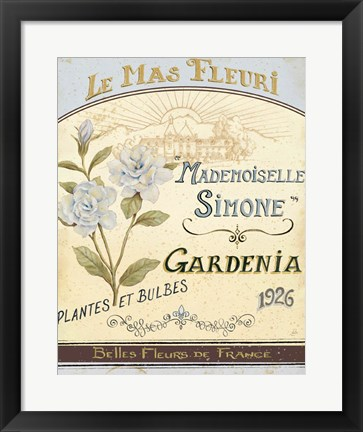 Framed French Seed Packet IV Print
