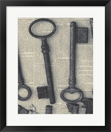 Framed Parisian Keys I Print