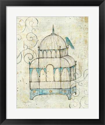 Framed Bird Cage II Print