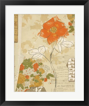 Framed Collaged Botanicals I Print