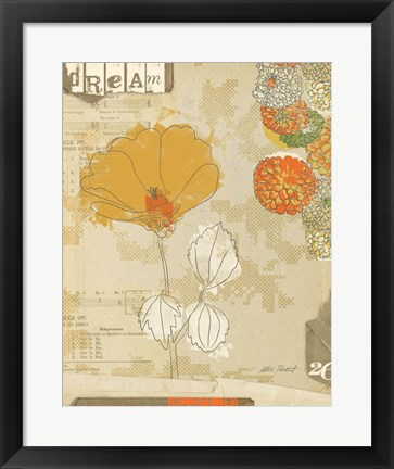 Framed Collaged Botanicals II Print