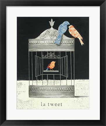 Framed La Tweet Print