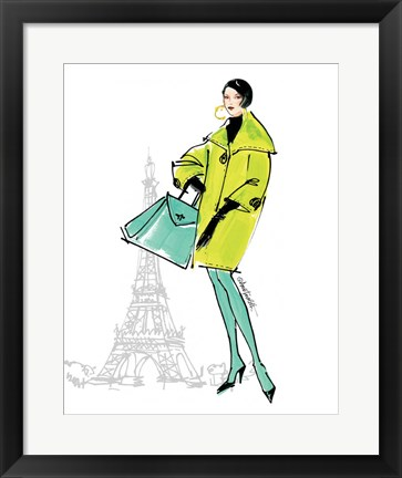 Framed Colorful Fashion II - Paris Print