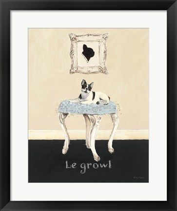 Framed Le Growl Print