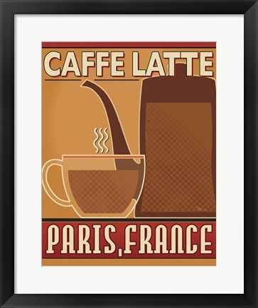 Framed Deco Coffee III Print