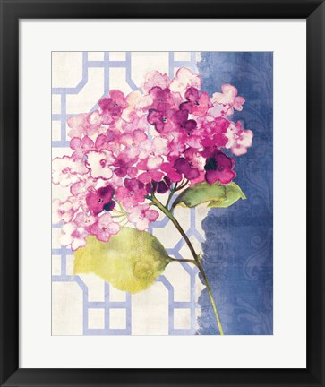 Framed Antique Floral on White I Print