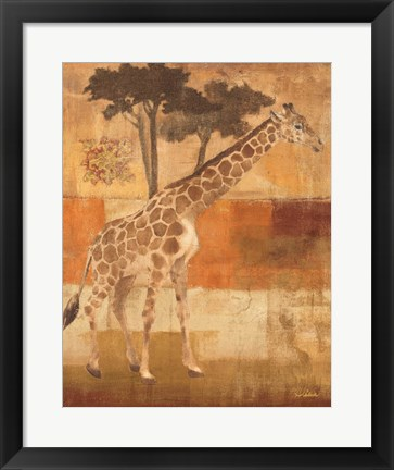 Framed Animals on Safari I Print