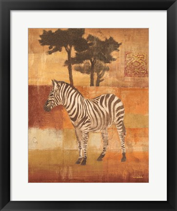 Framed Animals on Safari II Print