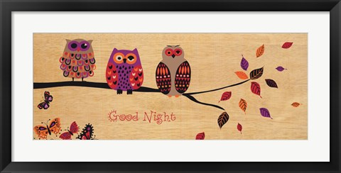 Framed Good Night Owl Print