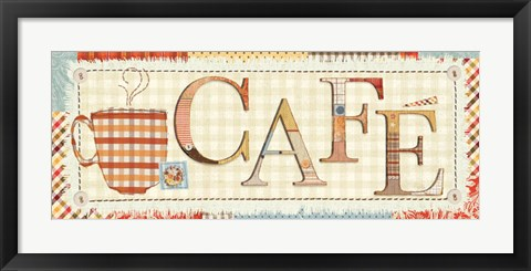 Framed Patchwork Cafe I Print