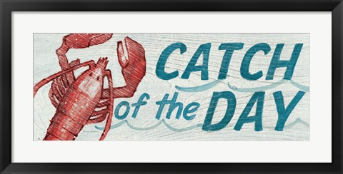 Framed Catch of the Day Print
