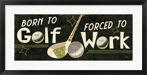 Framed Funny Golf III Print