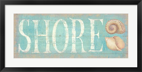 Framed Pastel Shore Print