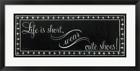 Framed Cute Shoes Print