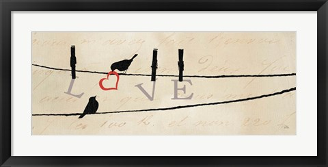 Framed Bird at Heart II Print