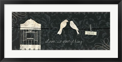 Framed Love Paris Panel III Print
