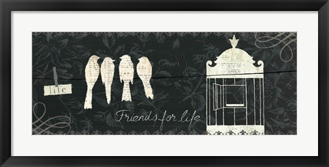 Framed Love Paris Panel IV Print