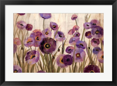 Framed Pink and Purple Flowers Print
