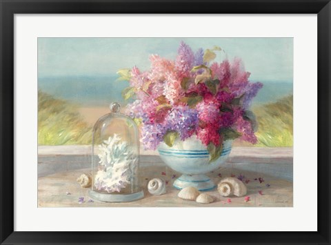 Framed Seaside Spring Crop Print