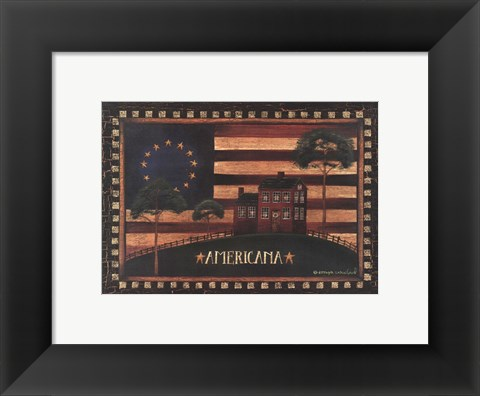 Framed Small-Americana Print
