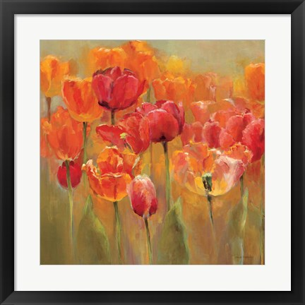 Framed Tulips in the Midst III Print