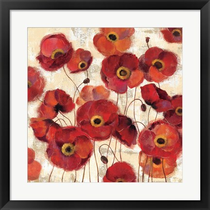 Framed Bold Poppies Print