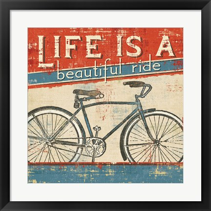Framed Beautiful Ride I Print