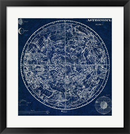 Framed Celestial Blueprint Print