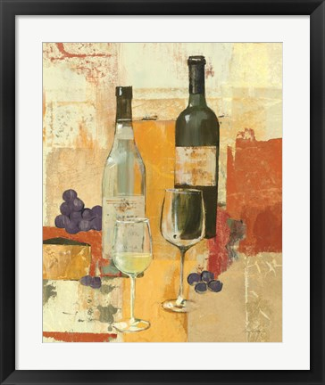 Framed Contemporary Wine Tasting II Print